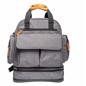 Linen Backpack Diaper Bag