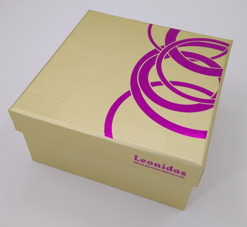 Chocolate box with paper divider