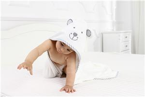 Bamboo Hooded Baby Towels with Embroidery Pattern