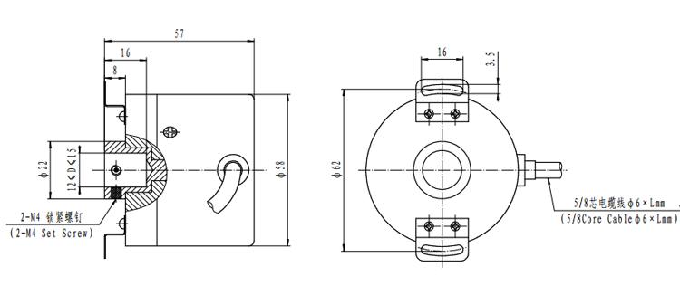 End Hollow Shaft Encoder
