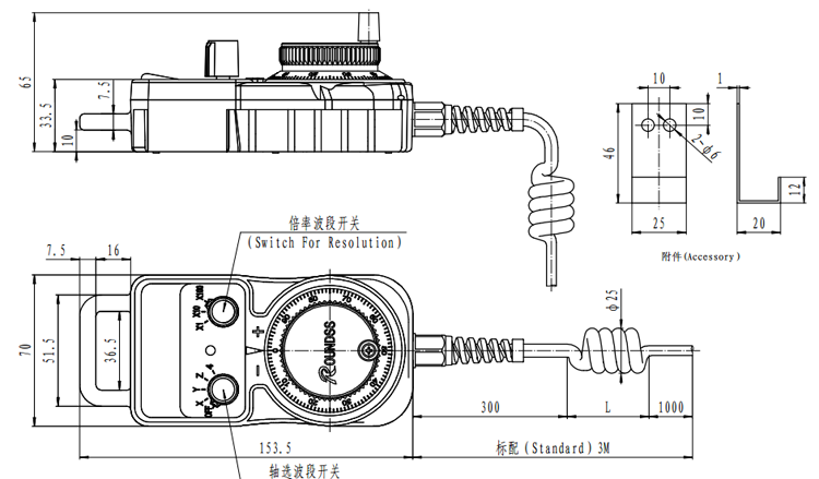 Control Pendant With MPG E-Stop