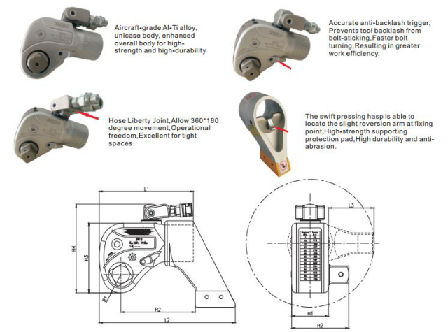 Hydraulic Square Drive Torque Wrench