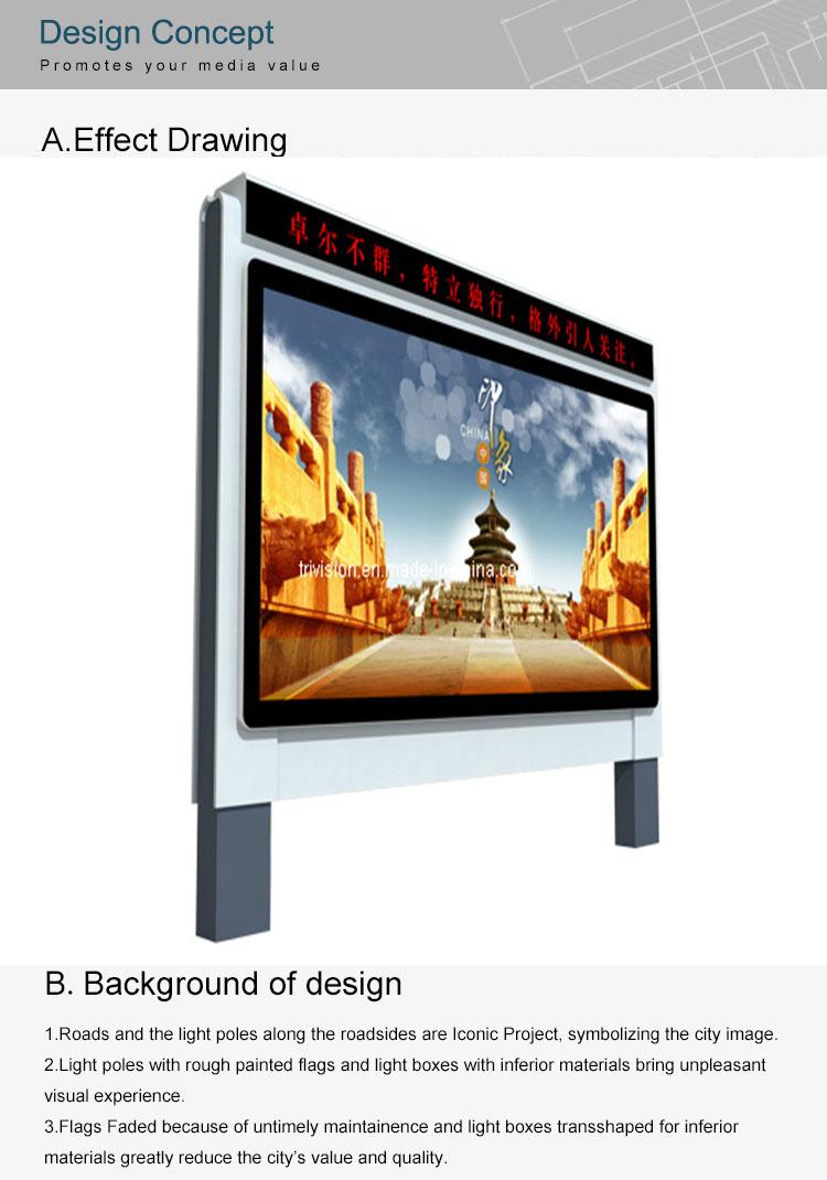 Billboard Iklan Pengiklanan Light Pole Harga Yang Rendah Billboard