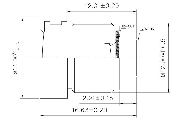 2.4mm board cctv lens