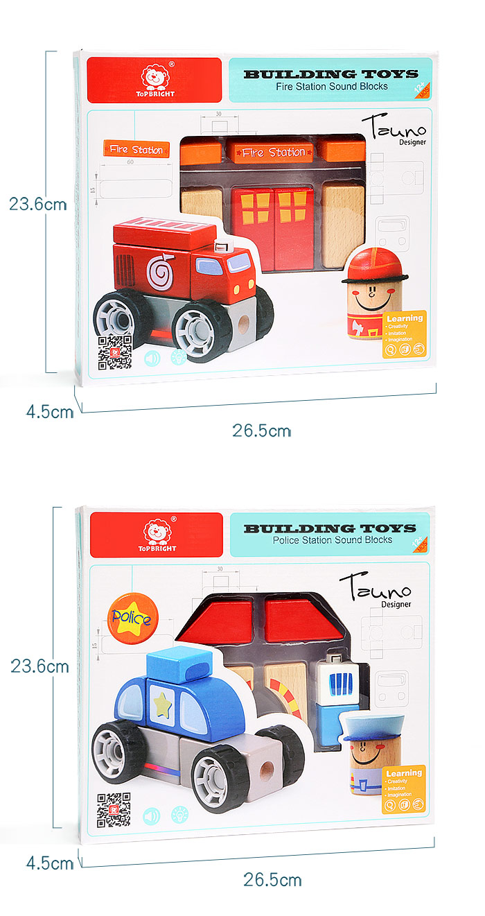 wooden toy block,police building blocks,wooden creative toys