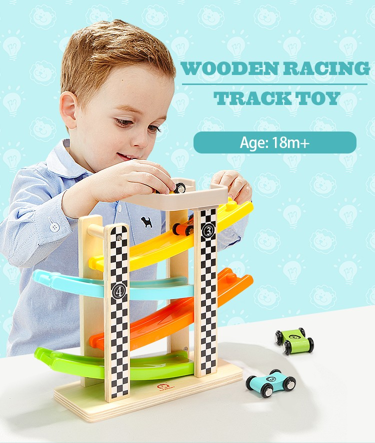 racing track toy Set,wood toys,racing track for kids