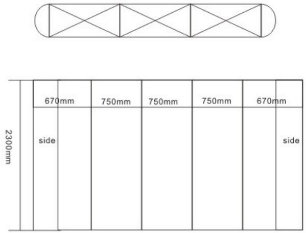 Pop Up Display, Flexible Curtain Shelf, Fold Screen Holder