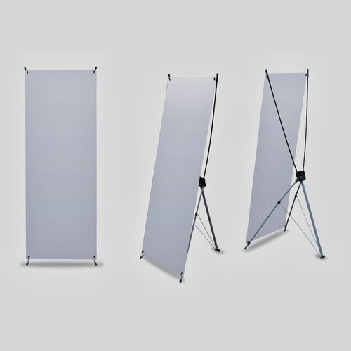 X Banner Stand 24 X 63, Stretch Placard Socle, Flex Poster Stands