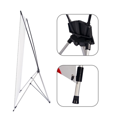 X Stand Banner Stand, Shrink X Poster Socle, Collapsible X Daybill Soclea