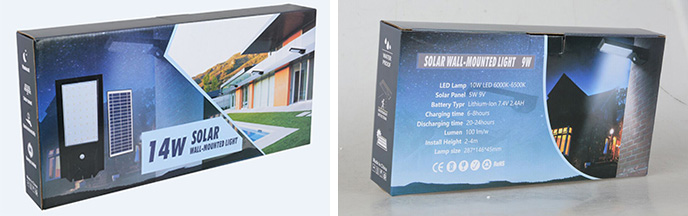 solar power led wall lamp