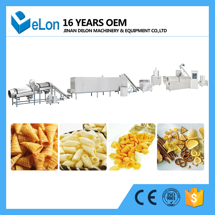 puffed snacks food extruder machine