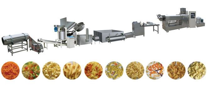 bugles Snacks Corn Chips Machinery Production Line