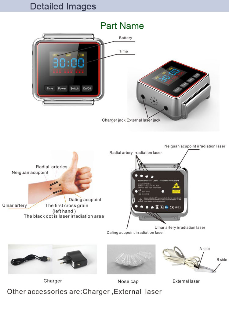 650nm laser therapy diabetic watch