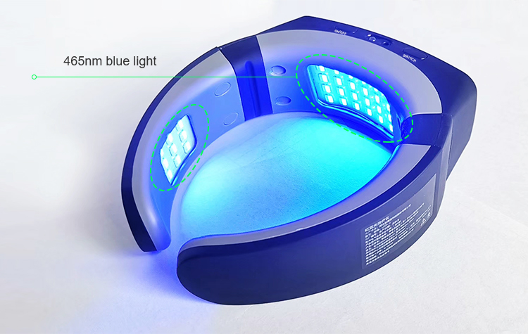 red and blue light physiotherapy