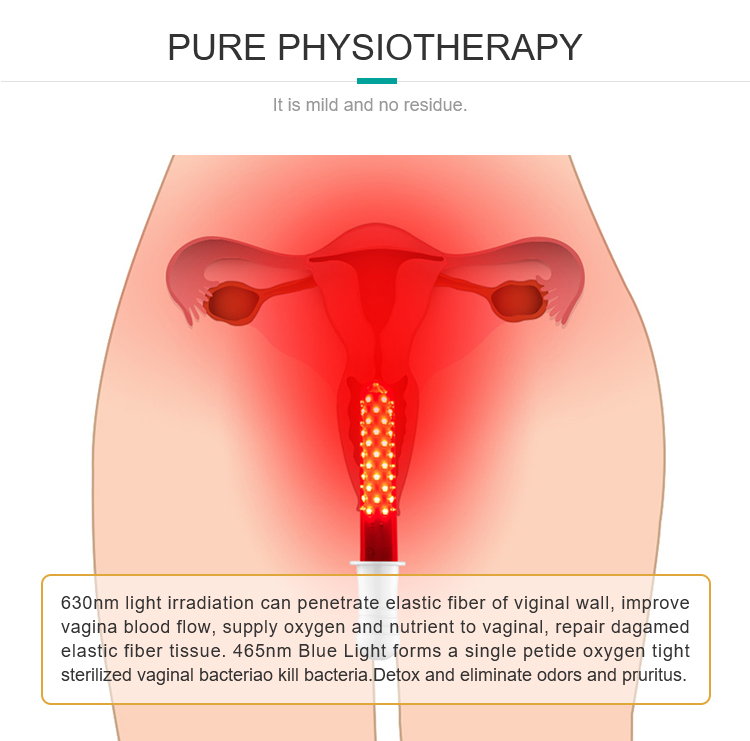red blue led light therapy vagina