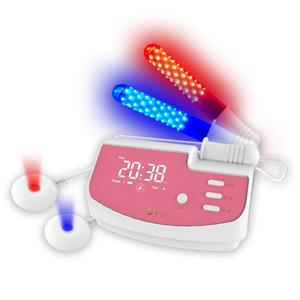 Vaginal stimulation vibrator red blue led light therapy vagina anti-inflammation machine
