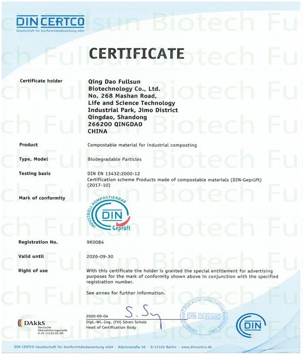 Kompostierbares Material für die industrielle Kompostierung