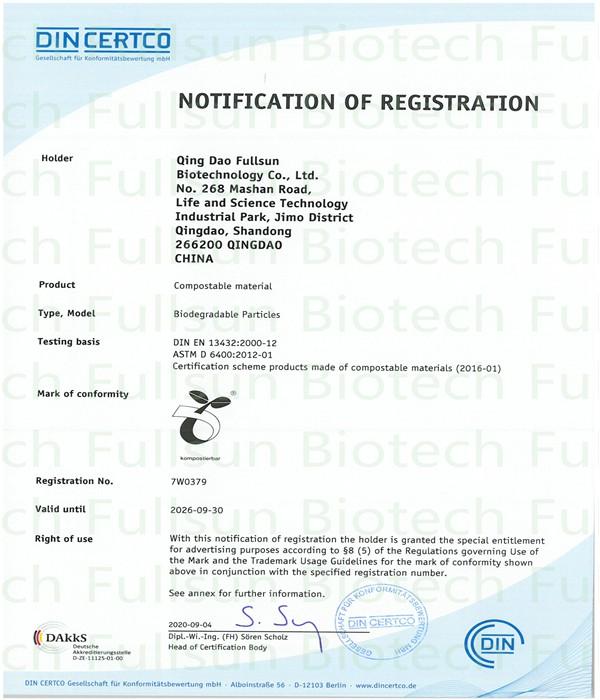 Zertifizierung kompostierbarer Materialien