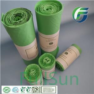 100% полностью биоразлагаемый пластиковый мусорный контейнер для покупок / банка Компостируемая сумка для упаковки пищевых продуктов TUV CE13432 Сумка с кухонным принтом и шнурком