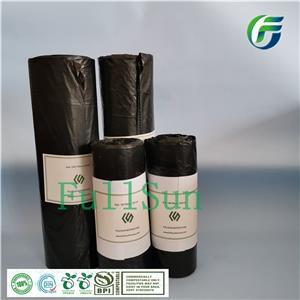 Большой биоразлагаемый мусорный бак Кухонный мешок Отходы Черная печать Индивидуальная сертификация Eco TUV Плоское дно Easytear 100% компостируемый мешок для мусора