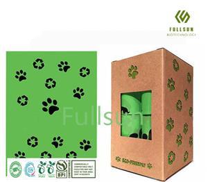 Биоразлагаемый мешок для кормы Пластиковый мешок для мусора для домашних животных Сумка для домашних животных для собак