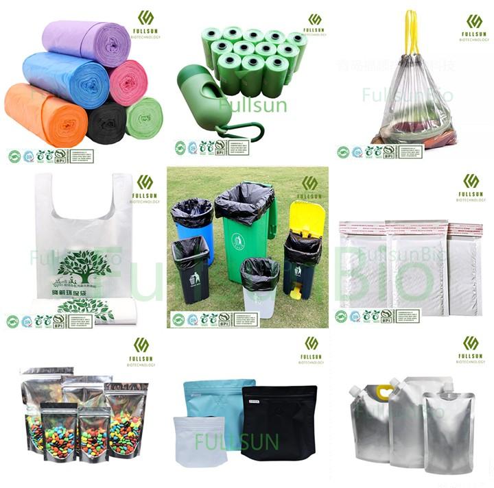 100% биоразлагаемый пластик для пищевых продуктов, мусор для покупок, мусор, собачьи корма, DIN13432, ручная печать на заказ, курьерская почта, компостируемые упаковочные пакеты