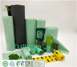 سلة مهملات التسوق البلاستيكية القابلة للتحلل / علبة برباط لتغليف المواد الغذائية القابلة للتحلل TUV CE13432 حقيبة قمامة المطبخ