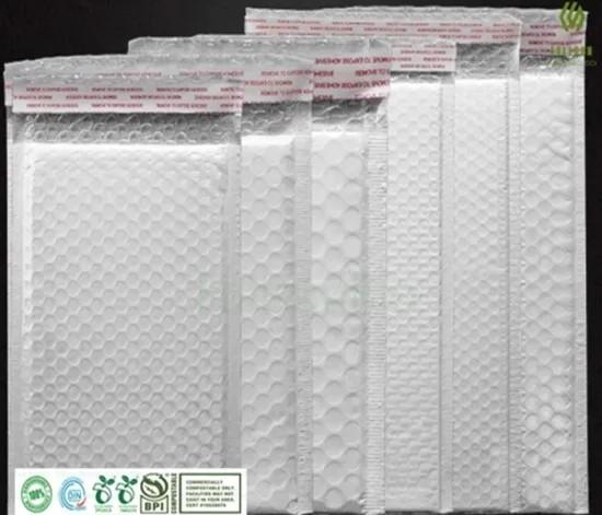 Биоразлагаемая пластиковая упаковка Пузырьковая мягкая самоклеящаяся почтовая почта Экспресс-курьерская доставка почтовые пакеты