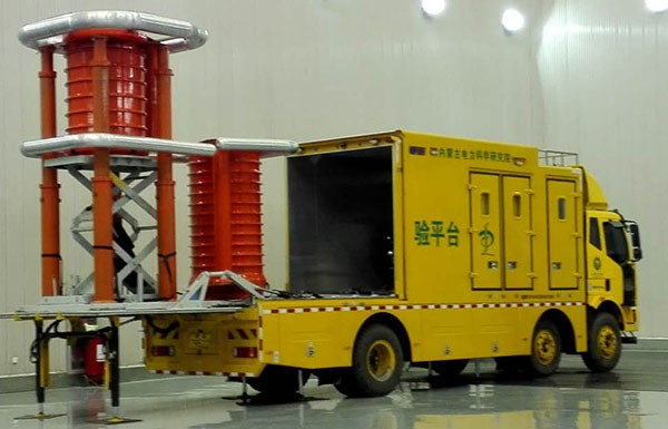 Mobile Variable Frequency HV AC Resonant Reactor