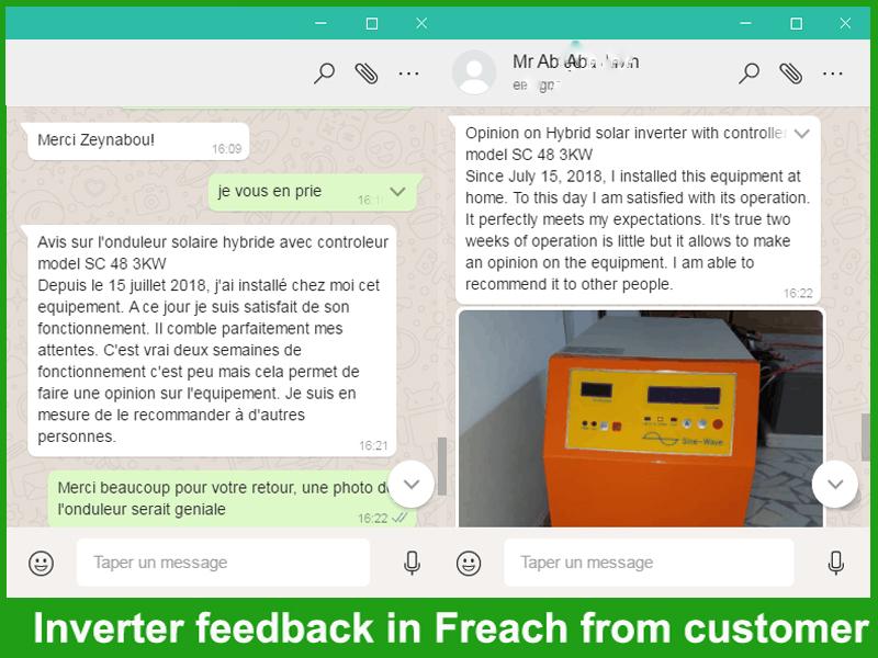 Customer praise