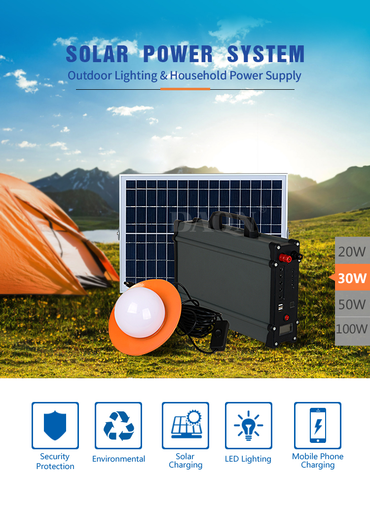 outdoor portable solar panel system