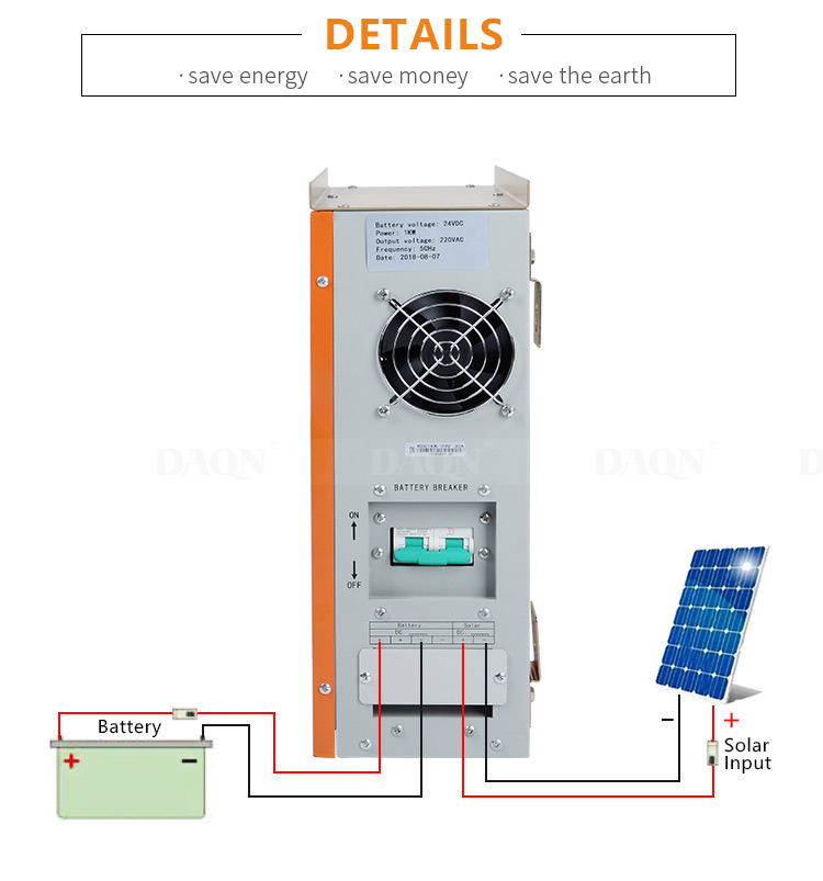 Pure sine wave solar inverter