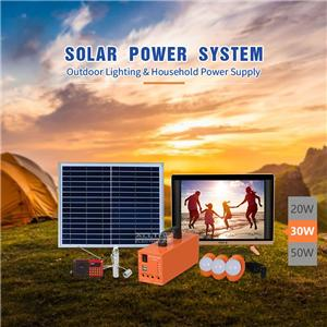 Portable Solar Led Battery Backup System