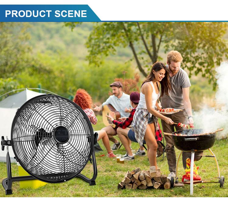 fan with solar battery