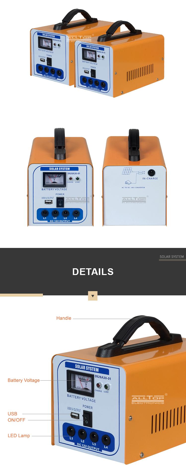 kit di illuminazione casa solare