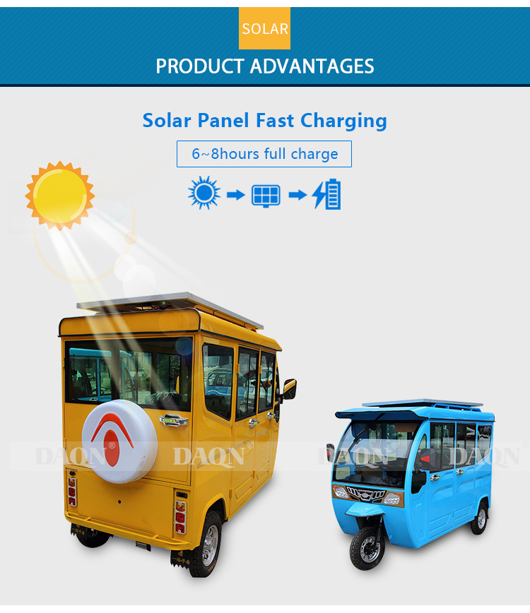 electric tricycle with solar panel