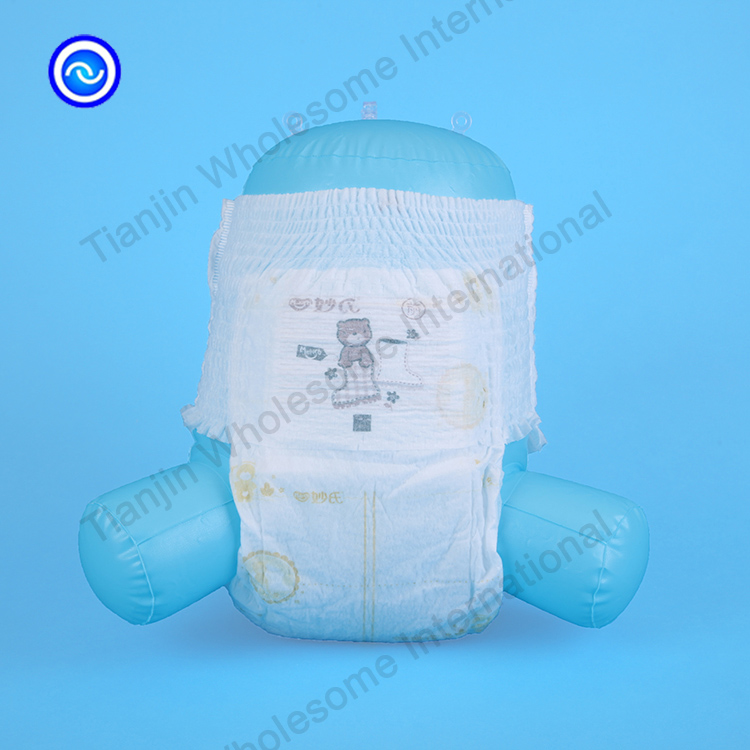 Soft Printed Back Sheet Baby Pulls Up Diaper