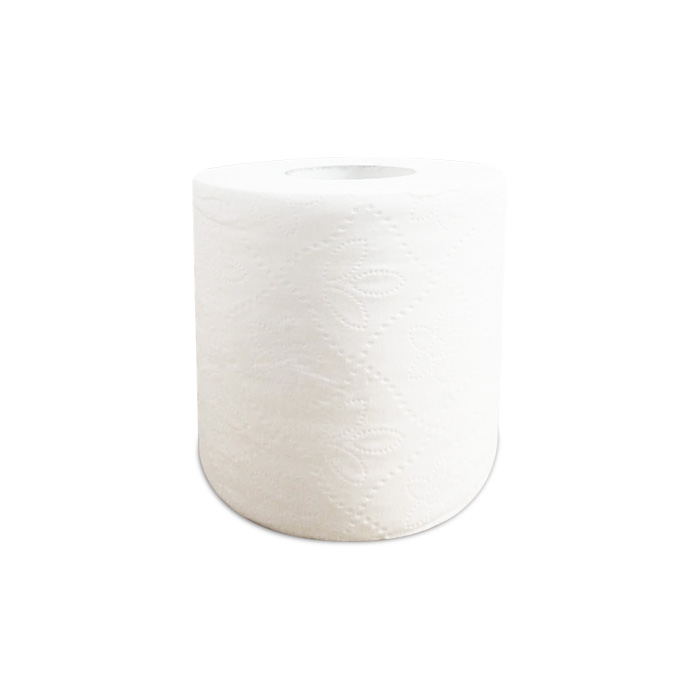 Customized Soft White 2 Layers Toilet Tissue Paper Roll