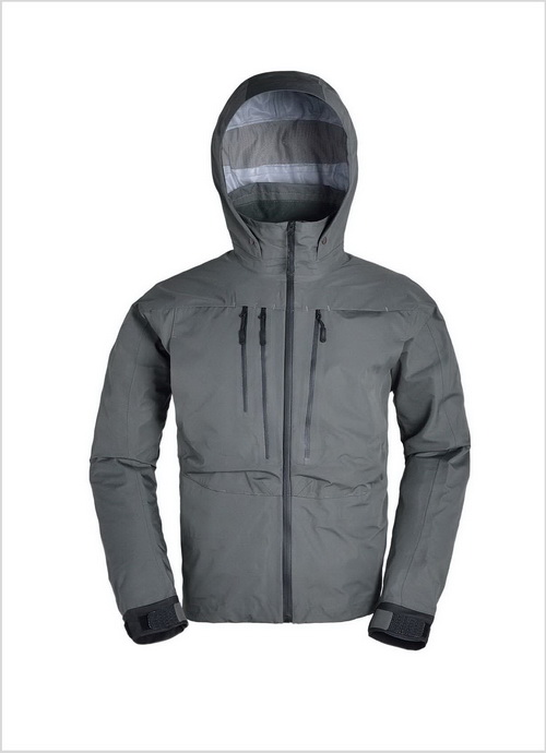 Zippered Fly Fishing Jacket with Hood