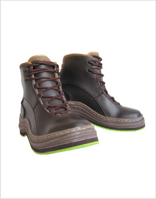 Wading Boots with Moulded Rubber Sole