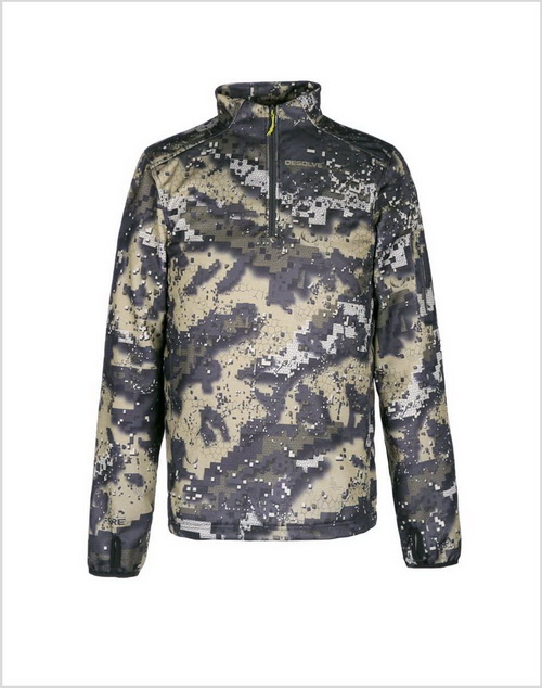 Long Sleeve Hunting Pullover with Desolve Camo
