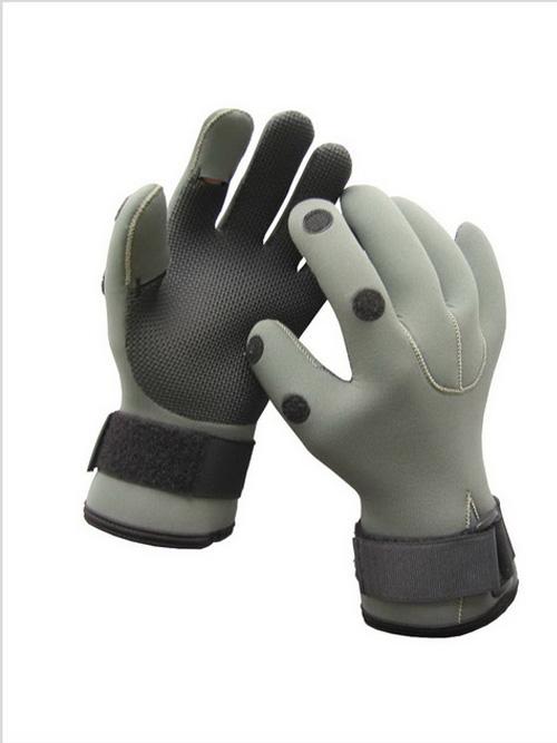 2-Fingers Foldable Neoprene Fishing Gloves