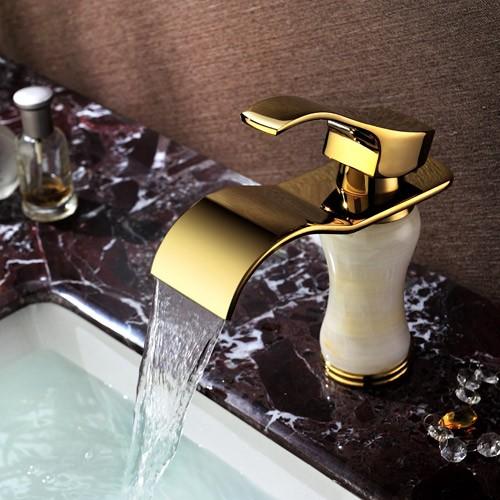Jade waterfall faucet