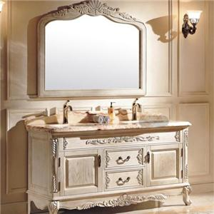 European Solid Wood Bathroom Cabinet