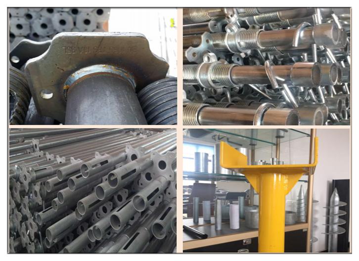 galvanized supports