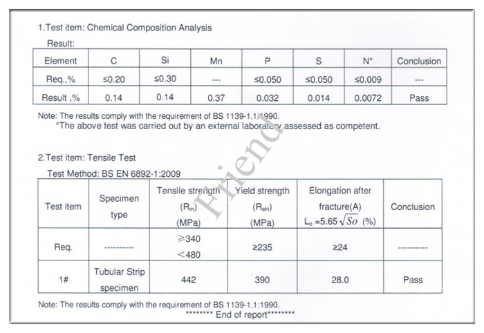 BS1139 tubes