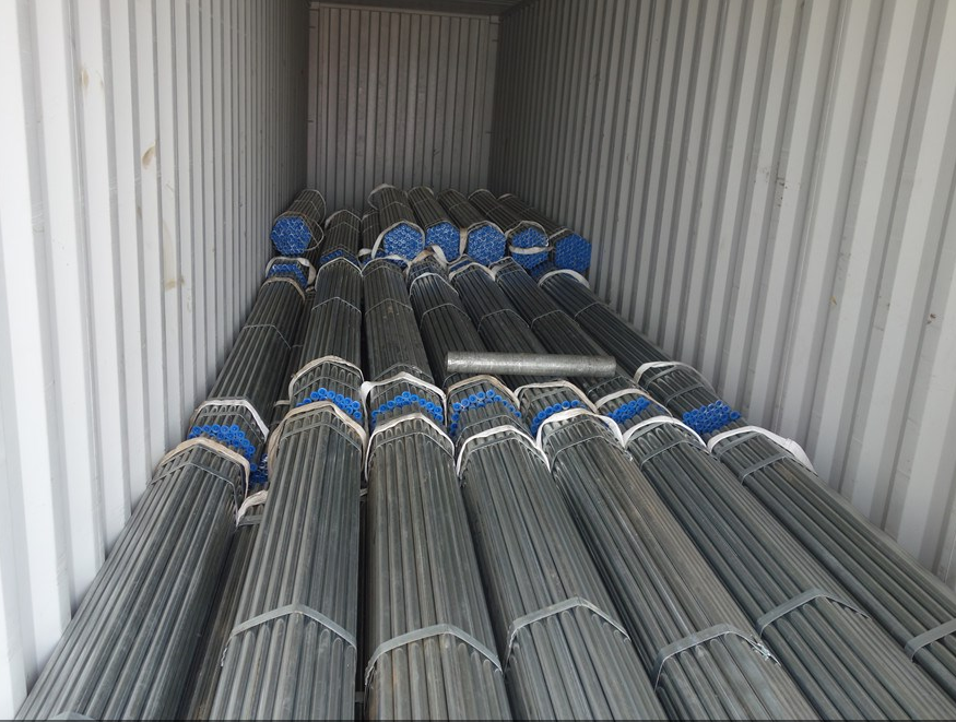 Steel Pipes Container Loading
