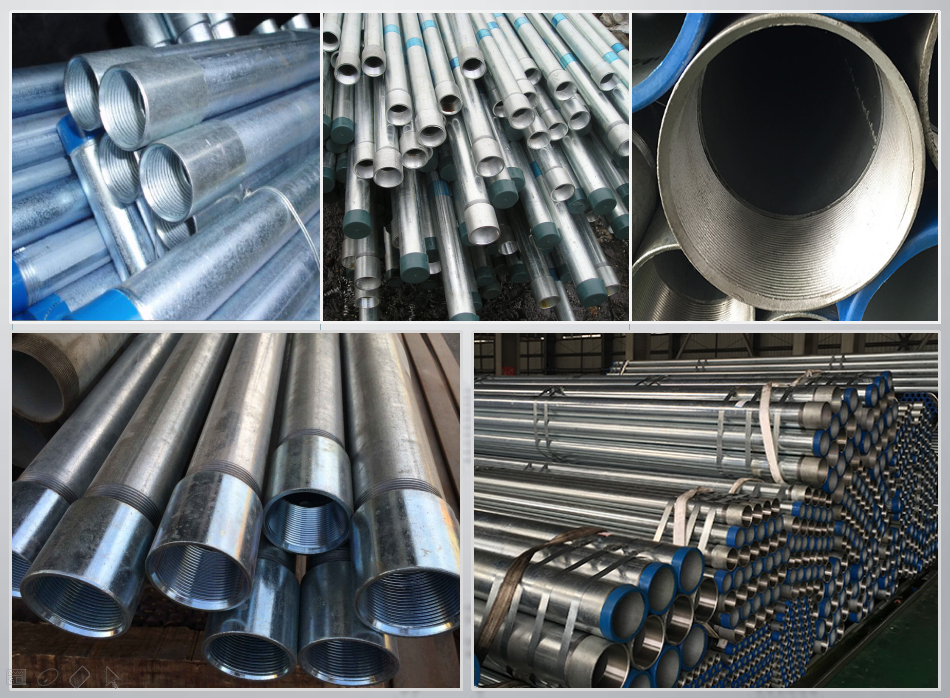 Produce Threading Galvanized Steel Pipes