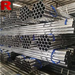 Threading Galvanized Steel Pipes With Couplers