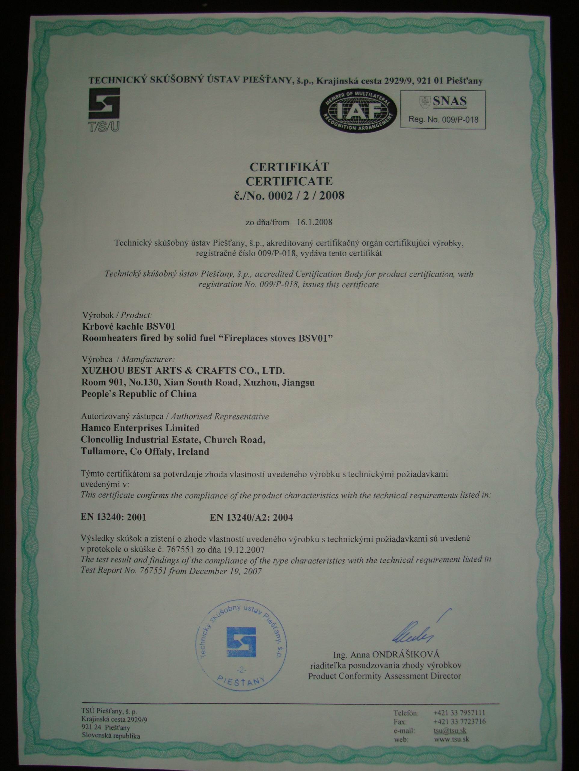 CE Certificate For Camping Stove